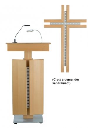 Pupitre de conférence LILLE avec crucifix