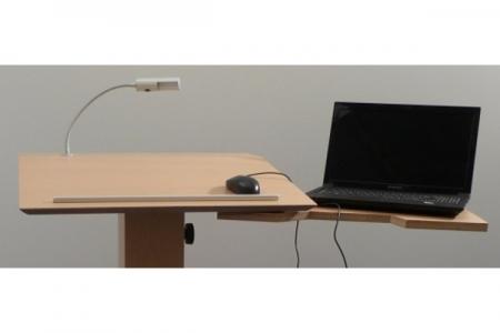 Support d'ordinateur portable pivotant en arrière avec un ordinateur portable n° 2