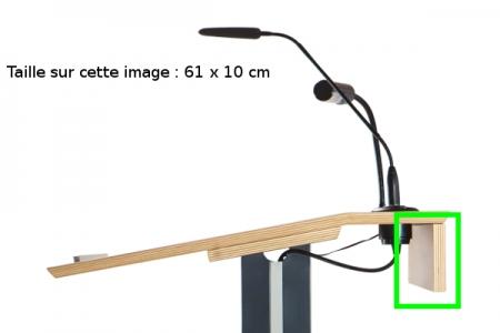 Panneau publicitaire en bois vue de côté
