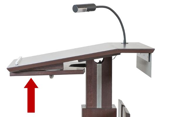 support d ordinateur portable pivotant. Black Bedroom Furniture Sets. Home Design Ideas