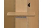 Deuxième étagère au pilier en bois
